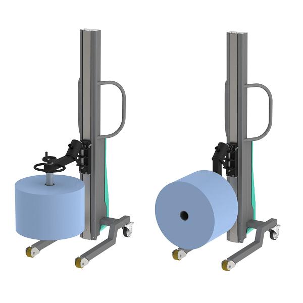 Wózek manipulacyjny 150 kg z trzpieniem rozprężnym do rolek fi76 150/650