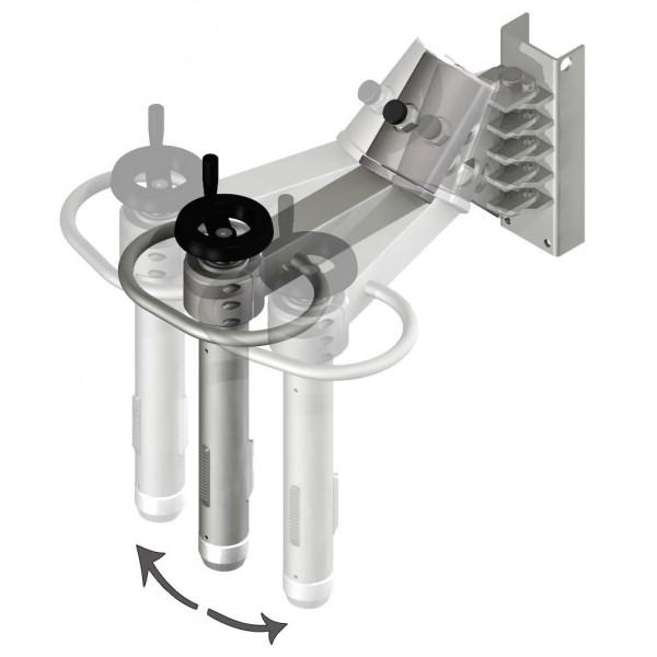 Wózek manipulacyjny 250 kg z trzpieniem rozprężnym do rolek fi76 150/650